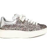 Alexander McQueen 亮片皮革运动鞋