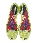 Furla 花朵饰黄绿色沙滩鞋