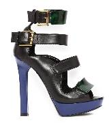 Alexander McQueen亚历山大·麦昆2014年春夏系列黑紫色高跟鞋