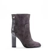 Furla栗色麂皮踝靴