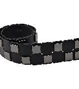 Karl Lagerfeld卡尔•拉格斐朋克系列方块拼接铆钉腰带