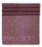 Jimmy Choo虎纹棕紫色真丝围巾