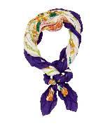 """爱马仕Hermes""""疯狂的印刷工""""140厘米真丝和棉混纺方巾"""