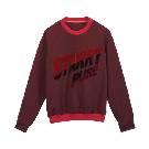 MO&Co.酒红色字母贴布绣卫衣