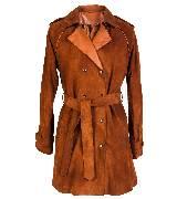 KOOKA 2013年咖啡色双排扣风衣外套