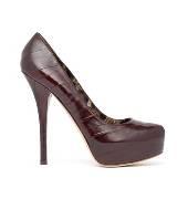 D&G深棕色皮革高跟鞋