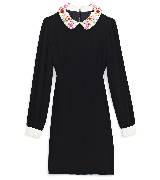 Kate Spade New York凯特·丝蓓2013节日系列长袖黑色连衣裙