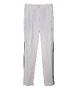 Moschino 黑色边缝白色长裤