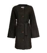 Kookai 黑色蕾丝拼接大衣