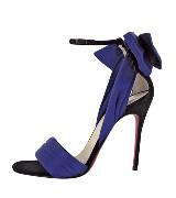 Christian Louboutin紫色仿绒高跟鞋