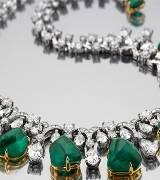 宝格丽祖母绿emerald珠宝项链