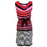 KOOKAÏ 2013年春夏彩色条纹撞色拼接无袖连衣裙