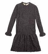 Chloé蔻依2013年秋季系列黑色长袖连衣裙