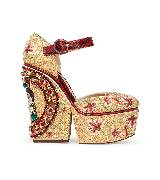 Dolce&Gabbana杜嘉班纳黄色高跟鞋