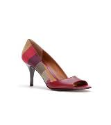 Fendi彩色条纹中跟鞋