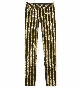 Michael Kors 2012假日系列 金色亮片条纹紧身裤