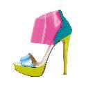 Christian Louboutin克里斯提·鲁布托彩色拼接高跟鞋