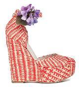 D&G红拼米色坡跟鞋