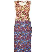 马克•雅可布(Marc Jacobs)双色碎花细腰带背心裙
