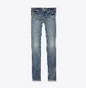 SAINT LAURENT 90年代中蓝色弹力低腰紧身牛仔裤
