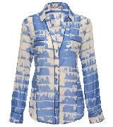 KOOKA 2013年春夏蓝色V领长袖衬衫