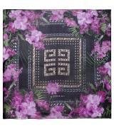 Givenchy纪梵希logo印花紫色方巾