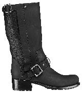 Dior迪奥2013早秋黑色金属扣短靴