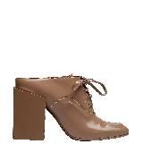 巴黎世家(Balenciaga)2013早春咖啡色系带粗跟皮鞋