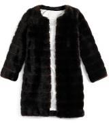 Kate Spade 黑色毛皮大衣