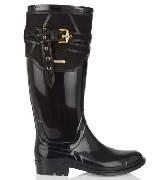 Burberry橡胶斜纹布威灵顿雨靴