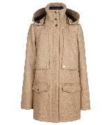 MANGO芒果2013冬季系列高领裸色大衣