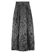 Alberta Ferretti压花褶皱锦缎及地长裙