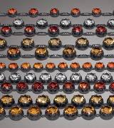 Bottega Veneta彩色宝石银质项链