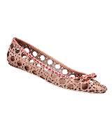 Dior迪奥裸色镂空藤格纹平底鞋