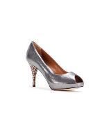 Fendi银色漆皮高跟鞋
