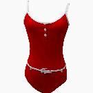 Lacoste 红色连体泳衣