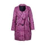 Marc Jacobs 紫色花呢大衣