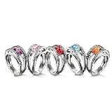 宝玑表Breguet彩色宝石戒指