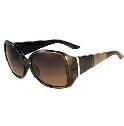 芬迪Fendi棕色大框树脂休闲墨镜