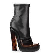Givenchy黑色露趾短靴