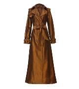 Jean Paul Gaultier 金色光泽束腰大衣