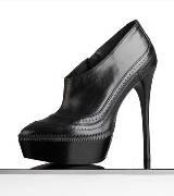 巴宝莉Burberry雅致叠层皮质厚底靴