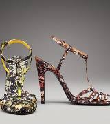 Bottega Veneta葆蝶家印花高跟鞋