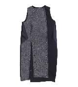 MaxMara深灰色拼接连衣裙