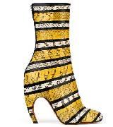 Givenchy纪梵希2013秋冬三色蟒皮弧形跟短靴