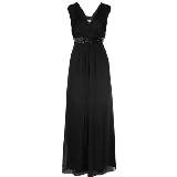 Alberta Ferretti黑色打褶丝袍礼服