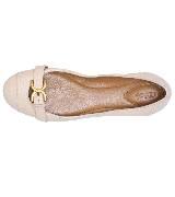 Chloé 金扣米色平底鞋