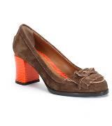 芬迪 (Fendi) Donna 2013早春系列鞋履深棕色中跟鞋