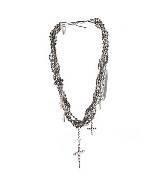 高缇耶Jean Paul Gaultier银色金属珠串项链