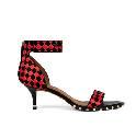 Givenchy2013早春系列黑红编织图案小牛皮短跟凉鞋